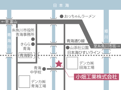 本社:事業所の地図